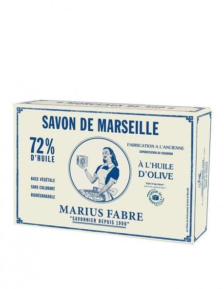 Marseillské mýdlo olivové 6 x 400 g - Marius Fabre