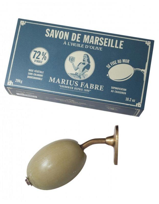 Marseillské mýdlo olivové s držákem - Marius Fabre