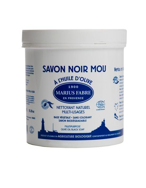 Černé mýdlo s olivovým olejem (pasta 1kg) - Marius Fabre