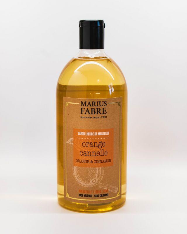 Marseillské tekuté mýdlo pomeranč a skořice 1 litr Marius Fabre